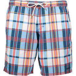 """Szorty kąpielowe """"Mangrove"""" z kolorowym wzorem. Niebieskie szorty męskie marki Brunotti, m, z denimu. W wyprzedaży za 86,95 zł."""