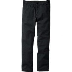 Spodnie ze stretchem chino Slim Fit Straight bonprix czarny. Czarne chinosy męskie bonprix. Za 89,99 zł.