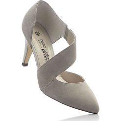 Czółenka skórzane bonprix piaskowy. Brązowe buty ślubne damskie bonprix. Za 179,99 zł.
