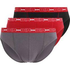 Bokserki męskie: DIM STRETCH 3 PACK Figi gris plomb/rouge chili/noir