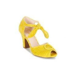 Sandały Miss L'Fire  LORETTA. Żółte sandały damskie Miss L'Fire. Za 543,20 zł.