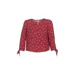 Bluzki Only  FLORI. Szare bluzki damskie marki ONLY, s, z bawełny, z okrągłym kołnierzem. Za 79,20 zł.