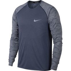 Koszulka do biegania męska NIKE DRY MILER RUNNING TOP LONG SLEEVE / 904665-451. Szare koszulki sportowe męskie marki Nike, m. Za 127,00 zł.