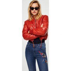 Mango - Jeansy Sohob. Niebieskie jeansy damskie Mango, z bawełny, z podwyższonym stanem. W wyprzedaży za 99,90 zł.