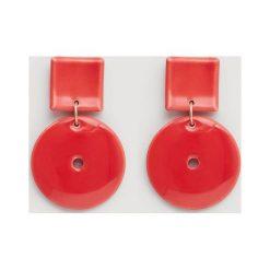 Mango - Kolczyki Ceramic3. Różowe kolczyki damskie Mango, ceramiczne. Za 59,90 zł.