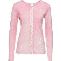 Sweter rozpinany bonprix jasnoróżowy z nadrukiem. Szare kardigany damskie marki Mohito, l. Za 99,99 zł.