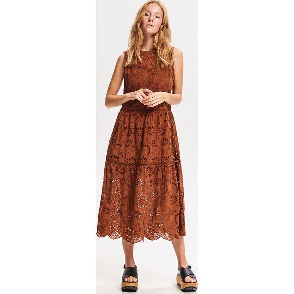 f31bce4c Ażurowa sukienka midi - Beżowy