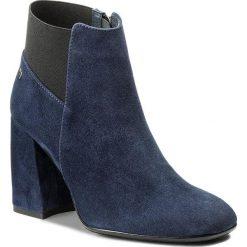 Buty zimowe damskie: Botki MACCIONI - 591 Niebieski