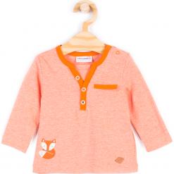 Koszulka. Brązowe t-shirty chłopięce z długim rękawem FOX, z aplikacjami, z bawełny. Za 19,90 zł.