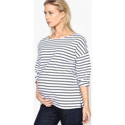 Bluza ciążowa. Szare bluzy damskie marki La Redoute Collections, m, z bawełny, z kapturem. Za 102,86 zł.