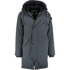 Quiksilver KAYAPA Płaszcz zimowy urban grey. Szare płaszcze zimowe męskie Quiksilver, l, z bawełny. W wyprzedaży za 569,25 zł.