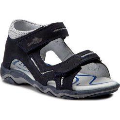 Sandały męskie skórzane: Sandały RENBUT – 21-3253 Granat