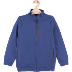 Bluza. Niebieskie bluzy chłopięce rozpinane marki BASIC BOY, z bawełny, z długim rękawem, długie. Za 44,90 zł.