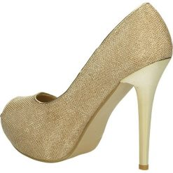 CZÓŁENKA CASU 7FF-GH82557. Brązowe buty ślubne damskie Casu, na koturnie. Za 54,99 zł.