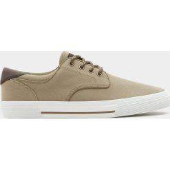 Buty męskie: Beżowe płócienne tenisówki