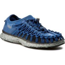 Sandały KEEN - Uneek 02 1016660 True Blue/Neutral Gray. Niebieskie sandały chłopięce Keen, z materiału. W wyprzedaży za 189,00 zł.