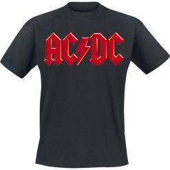 AC/DC Red Logo T-Shirt czarny. Czarne t-shirty męskie AC/DC, xl, z klasycznym kołnierzykiem. Za 54,90 zł.