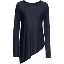 Swetry klasyczne damskie: Sweter z dzianiny o gładkim splocie bonprix ciemnoniebieski