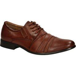 Brązowe buty wizytowe sznurowane Casu 1112-3. Brązowe buty wizytowe męskie Casu, na sznurówki. Za 59,99 zł.