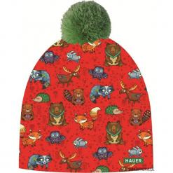 Czapka Magic Fun ZOO FOREST. Różowe czapki zimowe damskie Pakamera, z nadrukiem, z dzianiny. Za 79,00 zł.
