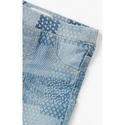 Mango Kids - Jeansy dziecięce Nora 80-104 cm. Niebieskie jeansy dziewczęce Mango Kids, z bawełny. W wyprzedaży za 39,90 zł.