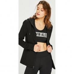 Calvin Klein Performance - Bluza. Czarne bluzy z kapturem damskie marki Calvin Klein Performance, l, z nadrukiem, z bawełny. Za 399,90 zł.