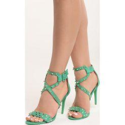 Zielone Sandały My Sins. Zielone sandały damskie Born2be, na wysokim obcasie, na szpilce. Za 79,99 zł.