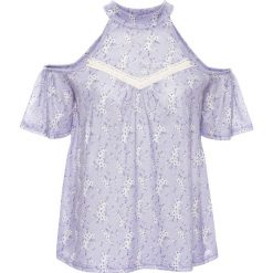 T-shirt z wycięciami bonprix jasny lila w kwiaty. Fioletowe t-shirty damskie bonprix, w kwiaty, z koronki, ze stójką. Za 29,99 zł.