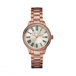"""Zegarek """"A17644M"""" w kolorze złotym. Żółte, analogowe zegarki damskie Hugo Boss, Festina & Joop!, ze stali. W wyprzedaży za 649,95 zł."""