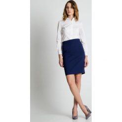 Spódniczki: Granatowa ołówkowa spódnica BIALCON