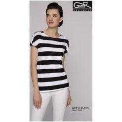Bluzki z falbaną: GATTA Koszulka damska Sonia czarno- biała r. S