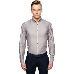 Koszula bexley 26861 długi rękaw slim fit brąz. Szare koszule męskie slim marki Recman, m, z długim rękawem. Za 139,00 zł.