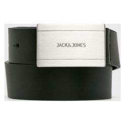 Jack & Jones - Pasek skórzany. Czarne paski męskie Jack & Jones, w paski. W wyprzedaży za 99,90 zł.