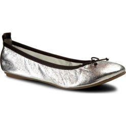 Baleriny TAMARIS - 1-22113-28 Silver Struct. 927. Szare baleriny damskie lakierowane Tamaris, ze skóry ekologicznej, na płaskiej podeszwie. W wyprzedaży za 149,00 zł.