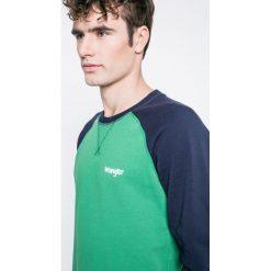 Wrangler - Bluza. Zielone bluzy męskie rozpinane Wrangler, l, z bawełny, bez kaptura. W wyprzedaży za 159,90 zł.
