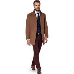 Płaszcz Beżowy Camilo. Brązowe płaszcze na zamek męskie marki LANCERTO, m, z bawełny. W wyprzedaży za 599,90 zł.