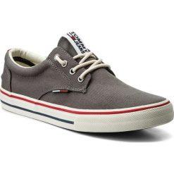 Tenisówki TOMMY JEANS - Textile Sneaker EM0EM00001 Steel Grey 039. Szare tenisówki męskie marki Tommy Jeans, z gumy. W wyprzedaży za 199,00 zł.