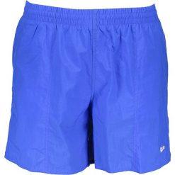 Szorty kąpielowe w kolorze niebieskim. Niebieskie kąpielówki męskie marki Speedo. W wyprzedaży za 56,95 zł.