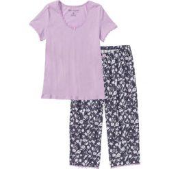 Piżamy damskie: Piżama ze spodniami 3/4 bonprix jasny bez z nadrukiem