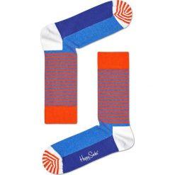 Happy Socks - Skarpety Half Stripe. Różowe skarpetki męskie Happy Socks, z bawełny. W wyprzedaży za 27,90 zł.