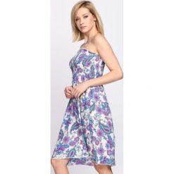 Sukienki: Biało-Różowa Sukienka My Wave
