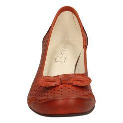 CZÓŁENKA CASU 084. Brązowe buty ślubne damskie Casu, na koturnie. Za 149,99 zł.