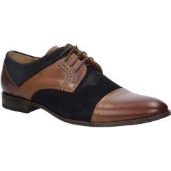 Brązowe buty wizytowe skórzane sznurowane brąz palony DUO MEN 00740E-02-B-P-010. Brązowe buty wizytowe męskie Duo Men, na sznurówki. Za 238,99 zł.