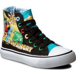 Trampki ANGRY BIRDS - CP40-AB16-11RV Czarny Kolorowy. Czarne trampki chłopięce Angry Birds, w kolorowe wzory, z gumy. Za 59,99 zł.