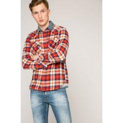 Diesel - Koszula. Szare koszule męskie na spinki Diesel, l, w kratkę, z bawełny, z klasycznym kołnierzykiem, z długim rękawem. W wyprzedaży za 359,90 zł.
