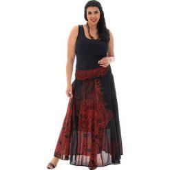 Odzież damska: Spódnica w kolorze czarno-pomarańczowym