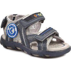 Sandały GEOX - B S.Pianeta B B4264B 01054 C0665 Szary/Morski. Niebieskie sandały męskie skórzane Geox. W wyprzedaży za 159,00 zł.