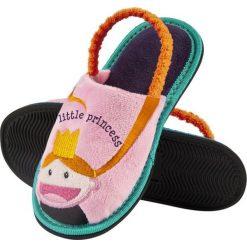 Soxo - Kapcie dziecięce. Szare kapcie dziewczęce marki Soxo, z gumy, z okrągłym noskiem. Za 29,99 zł.