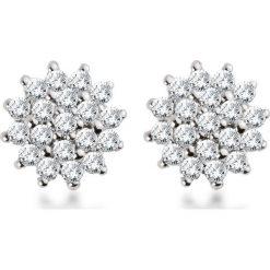Zjawiskowe Kolczyki Białe Złoto - złoto białe 333, Diament 0,15ct. Białe kolczyki damskie W.KRUK, z diamentem, złote. Za 1490,00 zł.