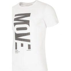 T-shirty męskie z nadrukiem: T-shirt męski TSM218 – biały